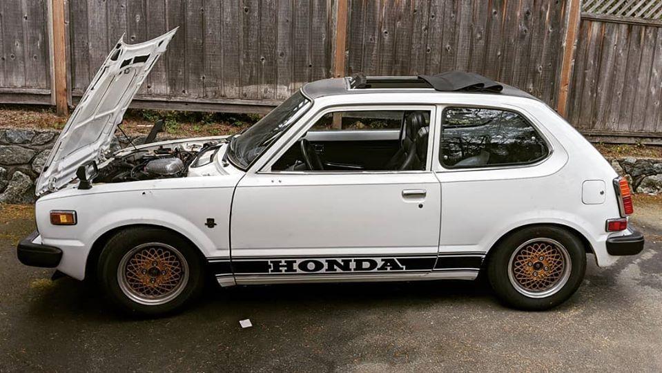 1978 Honda Civic CVCC White Side shot